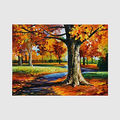 Hånd-malede Landskab / Mennesker / Blomstret/Botanisk Oliemalerier,Moderne Et Panel Canvas Hang-Painted Oliemaleri For Hjem Dekoration