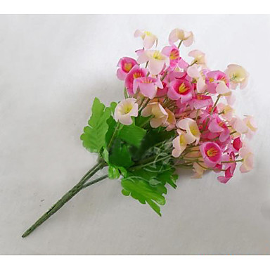 1 1 Ramo Poliéster Campânula Flor de Mesa Flores artificiais 24cm
