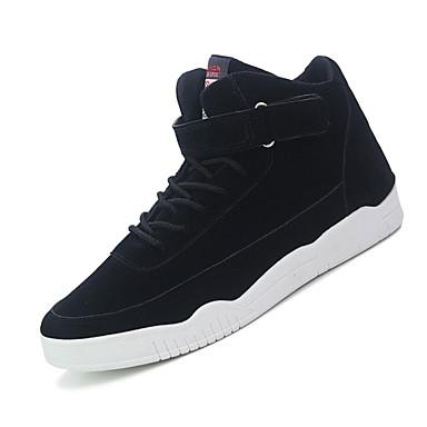 Sneakers-Ruskind-Komfort-Herre-Sort Rød Taupe-Udendørs Fritid Sport-Lav hæl