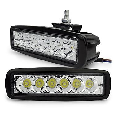 exled 18w weiß 6500K 1800lm wasserdichte Autolicht - schwarz (2 Stück)
