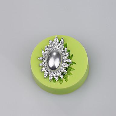 elegante sieraden ellipsvormige zachte siliconen mallen groothandel cake cutter cake decoratie kleur willekeurig