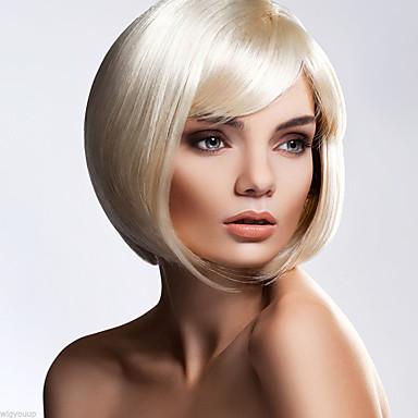 Kvinder Syntetiske parykker Kort Bølget Blond Bob frisure Naturlig paryk kostume Parykker
