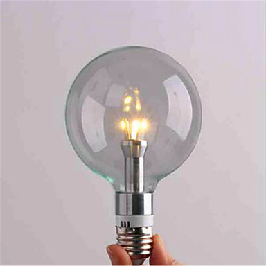 1pc 3 W 300 lm E26 / E27 LED-globepærer G95 3 LED perler SMD 3528 Dekorativ Varm hvit / Kjølig hvit 220-240 V / 1 stk. / RoHs