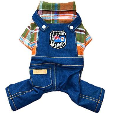 Hond Jumpsuits Denim jacks Hondenkleding Cowboy Modieus Jeans Oranje Roos Kostuum Voor huisdieren