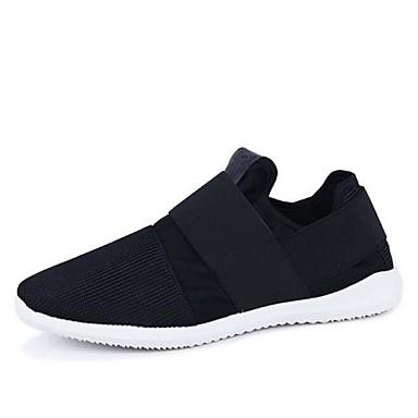 Heren Schoenen Canvas Lente Herfst Sneakers Veters Voor Sportief Wit Zwart Grijs