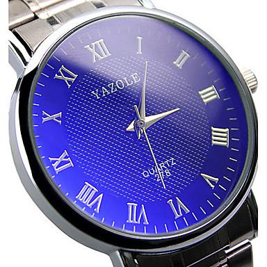 Voor Stel Polshorloge Dress horloge Modieus horloge Kwarts / Hot Sale Roestvrij staal Band Informeel Zilver