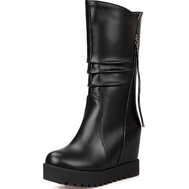 Damen Schuhe Lackleder / Kunstleder Herbst / Winter Neuheit / Cowboystiefel / Westernstiefel / Schneestiefel Stiefel Walking Plattform /