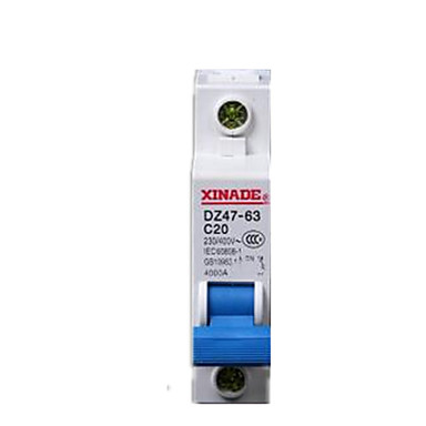 twee DZ47-63 / 1p 10a circuit breakers per pack