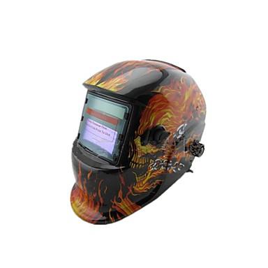 soldadores soldagem TIG tampa protetora torna-se máscara automática crânio luz solar,