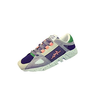 Sneakers-PU-Komfort-Herre-Sort Rosa Rød-Fritid-Flad hæl
