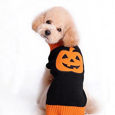 Hund Pullover Hundekleidung Niedlich Urlaub Halloween Kürbis Schwarz Kostüm Für Haustiere