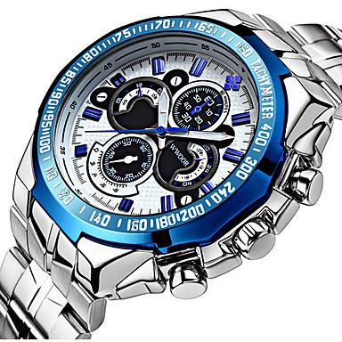 Heren Dress horloge Polshorloge Kwarts Japanse quartz Kalender Waterbestendig s Nachts oplichtend Roestvrij staal Band Luxe Informeel