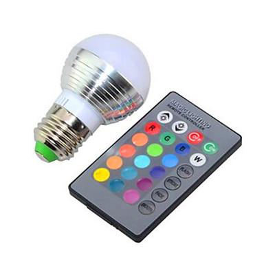 1pc 3 W 150 lm E26 / E27 Smart LED Glühlampen G45 1 LED-Perlen Hochleistungs - LED Abblendbar / Ferngesteuert / Dekorativ RGB 85-265 V / 1 Stück / RoHs