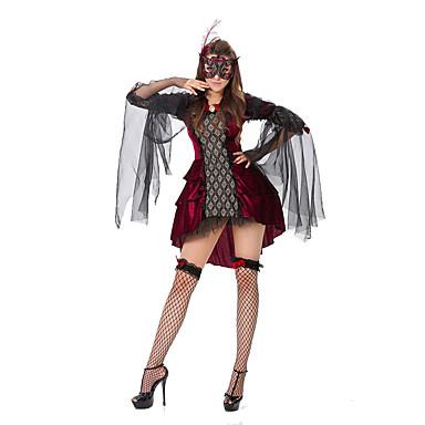 Cosplay Kostuums Feestkostuum Koningin Sprookje Festival/Feestdagen Halloweenkostuums Rood Patchwork Kleding Meer AccessoiresHalloween