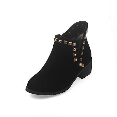 Støvler-laklæder Kunstlæder-Komfort Basispumps Ridestøvler Modestøvler-Dame-Sort Gul Grå-Udendørs Formelt Fritid-Tyk hæl