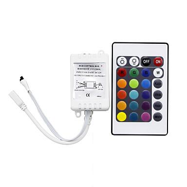 rgb-kontroller 24 taster ir fjernkontrollen gjelder for 3528 eller 5050 rgb led strips