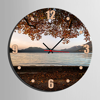 Modern / Contemporary Canvas Round Indoor,AA Wall Clock