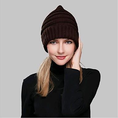 Damer Afslappet Vinter Beanie hue Akryl