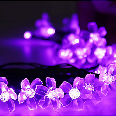 7m Cuerdas de Luces 50 LED Diodo LED Blanco Cálido / RGB / Blanco Recargable / Regulable / Impermeable 100-240 V / IP44