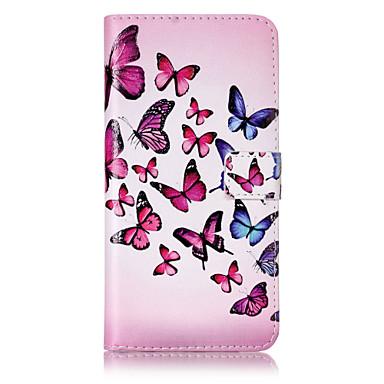 Hülle Für Apple iPhone 6 iPhone 7 Plus iPhone 7 Kreditkartenfächer Geldbeutel mit Halterung Flipbare Hülle Muster Geprägt