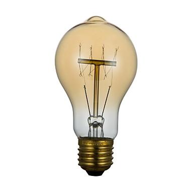 BriLight 1pc 60W 40W E27 E26/E27 E26 A60(A19) 2300 K Glødende Vintage Edison lyspære AC 220V AC 220-240V V