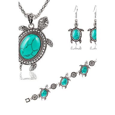 Mujer Turquesa Conjunto de joyas - Turquesa Moda Incluir Collar / pendientes Verde Para Boda / Fiesta / Diario / Pendientes / Collare / Pulsera