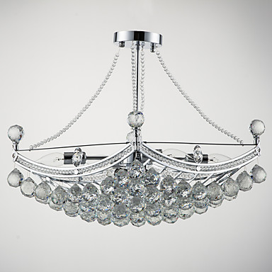QINGMING® Inversat Lumini pandantiv Lumini Ambientale Galvanizat Metal Sticlă Cristal 110-120V / 220-240V Becul nu este inclus / E12 / E14