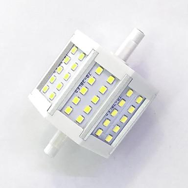 800lm R7S LED-kornpærer T 30LED LED perler SMD 2835 Dekorativ Varm hvit / Kjølig hvit 85-265V