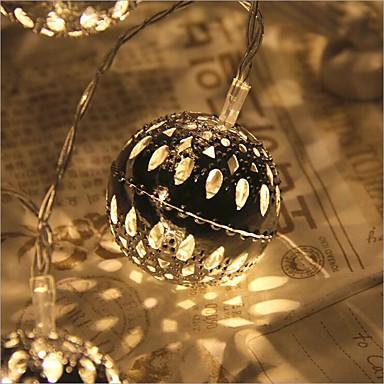 2.5m Verlichtingsslingers 20 LEDs Dip LED Warm wit Afstandsbediening / Dimbaar / Waterbestendig 5 V / Koppelbaar / Kleurveranderend / IP44