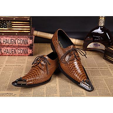 Hombre Zapatos Confort Cuero Vintage Oxfords Amarillo / Fiesta y Noche / Fiesta y Noche