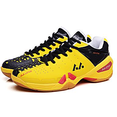 Masculino sapatos Couro Outono Conforto Tênis Tênisq badminton Cadarço Para Atlético Laranja Roxo Amarelo