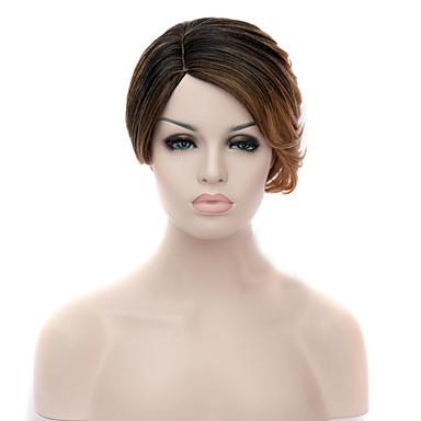 Naisten Synteettiset peruukit Suojuksettomat Mansikka Blonde / Medium Auburn Cosplay-peruukki puku Peruukit
