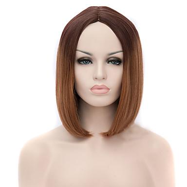 Kvinder Syntetiske parykker Lokkløs Strawberry Blonde / Medium Rødbrun Cosplay-parykk costume Parykker