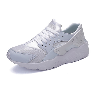 Unissex Sapatos Couro Ecológico Primavera Outono Conforto Tênis Rasteiro Cadarço Para Casual Branco Preto Vermelho Verde Branco/Preto