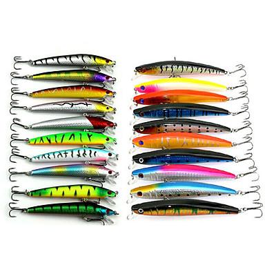 abordables Leurres & Mouches de Pêche-20 pcs leurres de pêche Poissons nageur / Leurre dur Crayons Kits de leurre Brochet Plastique souple Flottant Pêche en mer