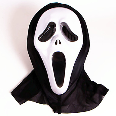 Haloween-masker Scream-maske Horrortema Plast PVC 1pcs Deler Voksne Gave