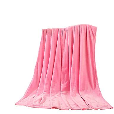 Flanelli,Kuvioton Tukeva 100% polyesteri peitot