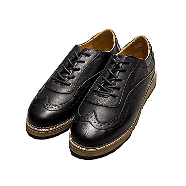 Masculino-Rasos-Conforto sapatos Bullock-Rasteiro-Preto Marrom Cinza-Couro Ecológico-Casual