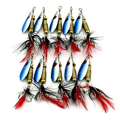 1 kpl Uistin Buzzbait ja Spinnerpait uistimet Buzzbait ja Spinnerpait uistimet g / Unssi mm tuuma, Metalli Hyrräkelaus