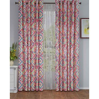 Eén paneel Window Behandeling Designer , Meetkundig Woonkamer Polyester Materiaal Curtains Drapes Huisdecoratie For Venster