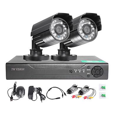 twvision® 4ch hdmi 960h cctv dvr surveillance enregistreur 1000tvl extérieur étanche caméras cctv système