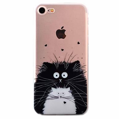 ケース 用途 Apple iPhone 5ケース iPhone 6 iPhone 7 超薄型 パターン バックカバー 猫 ソフト TPU のために iPhone 7 Plus iPhone 7 iPhone 6s Plus iPhone 6s iPhone 6 Plus