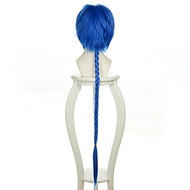 Pelucas sintéticas / Pelucas de Broma Recto Pelo sintético Peluca Mujer Sin Tapa Azul