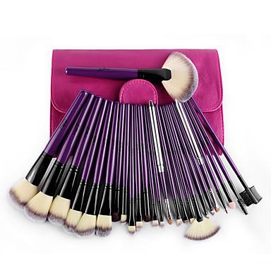 24pcs Pinceles de maquillaje Profesional Sistemas de cepillo Portátil / Viaje / Ecológica Madera