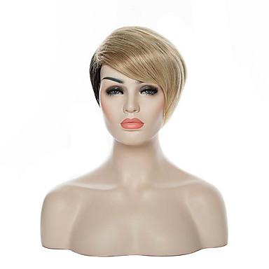 女性 人工毛ウィッグ キャップレス ショート丈 カーリー シルバー オンブレヘア ナチュラルウィッグ コスチュームウィッグ