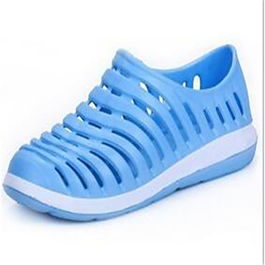 Feminino Sapatos Couro Ecológico Primavera Outono Sandálias Rasteiro Creepers Tachas Para Preto Azul Rosa claro
