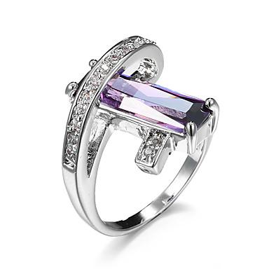 Mulheres Maxi anel Esmeralda Sintética Zircônia cúbica Original Boêmio Amor Casamento Zircão Zircônia Cubica Forma Geométrica Jóias Jóias