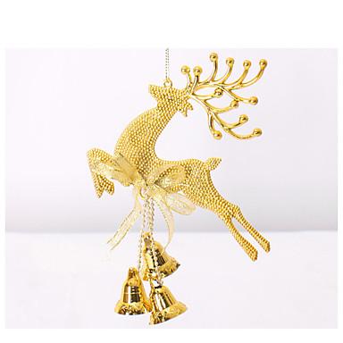 20センチメートルサンタヘラジカクリスマスの鐘クリスマスの装飾クリスマスの装飾クリスマスのウィンドウ装飾パーティーの小道具をハング