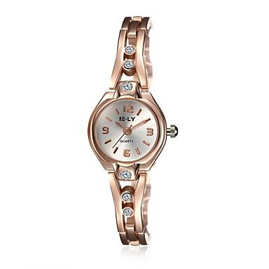 Mujer Reloj Casual / Reloj de Moda / Reloj Pulsera Resistente al Agua Aleación Banda Encanto / Casual / Elegante Dorado