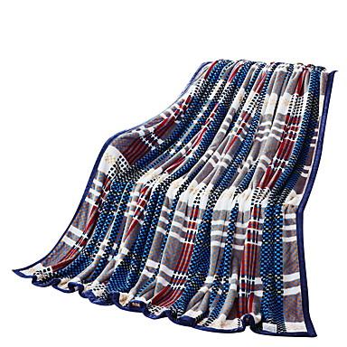Flanelli,Kuvioton Ruutu/skotti 100% polyesteri peitot
